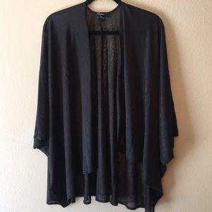 Cejon sheer black cardigan. Short sleeve loose fit
